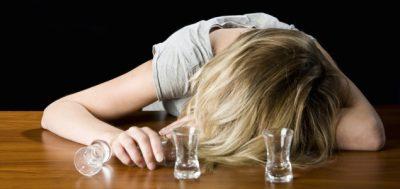 mujer alcohólica